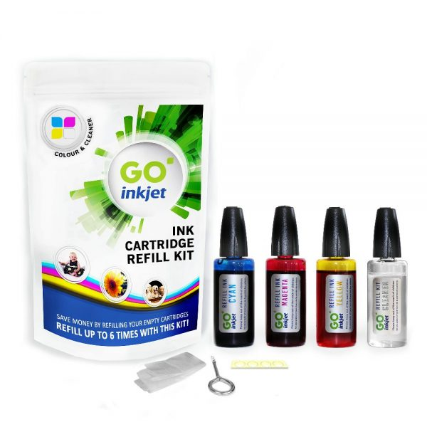 Colour Ink Refill Kit for Epson Printers with Cleaning Fluid