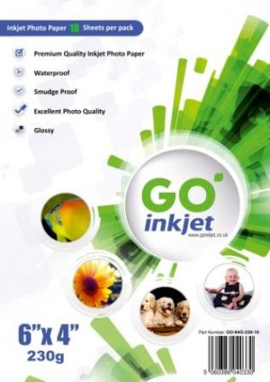 GO Inkjet 6x4 Photo Paper Glossy 230gsm 10 sheets