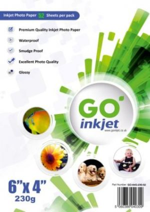 GO Inkjet 6x4 Photo Paper Glossy 230gsm 50 sheets