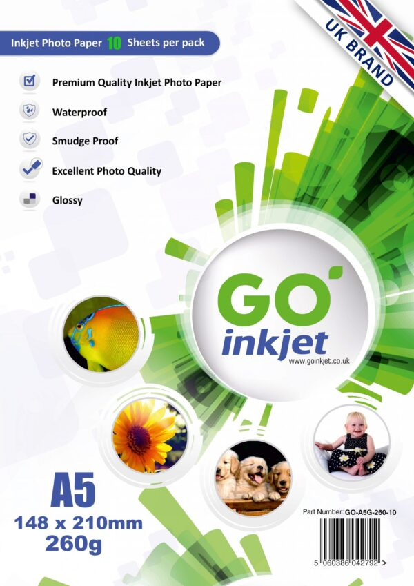 GO Inkjet A5 260gsm Glossy Photo Paper