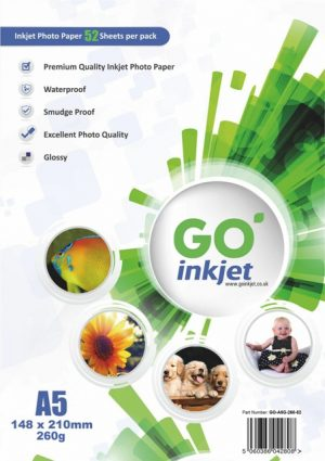 GO Inkjet A5 Photo Paper Glossy 260gsm 50 sheets