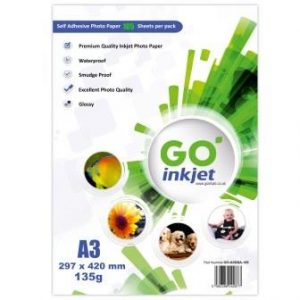 Go Inkjet A3 Self Adhesive 135gsm 100 sheets