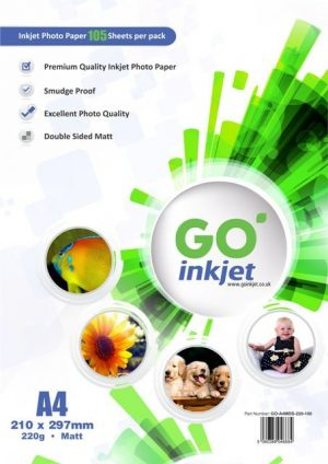 Wholesale GO Inkjet A4 Matt Photo Paper 220gsm 1000 Sheets